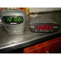 Radio Reloj Funcionando Todo Philips Y Sony $ 299 Cada Uno