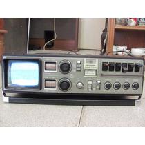 Antigua Radio Tv Cassettera Sharp 3t-59z Funciona Subasta!