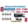 Tinta Brother Dcp-t300 T500 T700 Compatible X8 Botellas Negr