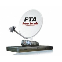 Kit Tv Satelital Fta 1 Antena Wifi Google Youtube Hd 1080p
