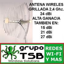 Antena Wireless 2,4ghz. 24 Dbi Enlace Inlambrico Cable 80cm