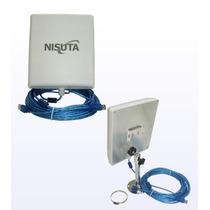 Antena Wifi Cpe Nisuta Cable Usb10m-2w-12dbi-5km
