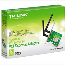 Placa Red Pci-e Wifi Tp-link Tl-wn881nd 300 Mbps 2 Antenas