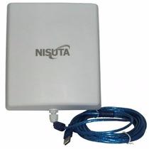 Antena Wifi Cpe Nisuta Placa Usb 2000mw 12dbi 5km Cable 10mt
