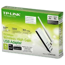 Placa Red Adapt Usb Tp-link Tlwn722n 150 Mbps Wifi V Adelina