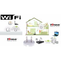 Repetidor Amplificador Wifi 7inova W211 300 Mb De Pared!
