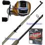 Combo Pesca Bait Reel Kunnan Excess + Caña Grafito + Multi