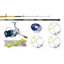 Reel Spinit + Caña Pescar Waterdog 3 Metros + Accesorios Kit