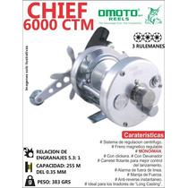 Reel De Casting Rotativo Freno Magnetico Patentado 6000 Ctm