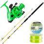 Equipo Pesca Variada Waterdog Caña 2.10m + Reel 201 + Nylon