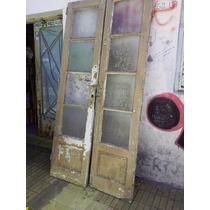 Puerta Antigua De Roble.puerta Con Vidrio Repartido Antigua