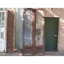 Puerta Cancel De Cedro Con Vidrio Bicelado Y Talla