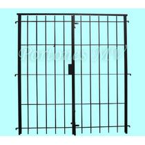 Puerta Reja Abrir Para 1,50 X 2,00 C/2 Pasadores Y Cerradura