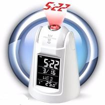 Reloj Proyector Despertador Proyeccion De Hora En El Techo