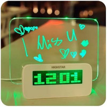 Reloj Despertador Hub Usb Digital Pizarra Magica Led