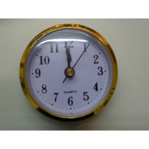 Maquinas Reloj Insertos 6,5 Ideal Artesania Por 10 Unidades