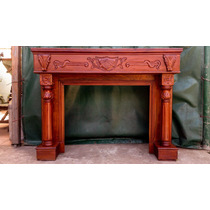 Chimenea Antigua Hogar Cedro Atelier Carpinteria