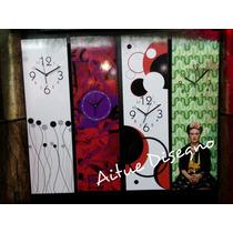 Reloj De Pared Moderno Retro Minimalista- Diseños Exclusivos