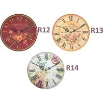 Relojes De Pared Vintage 29 Cm.