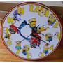 Reloj De Pared De Madera Minions Original Ouch Regalos