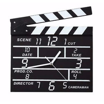 Reloj De Pared Madera Claqueta De Director De Cine Diseño