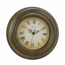 B&f - Reloj De Pared Metal Vintage Verde Diámetro 25 Cm