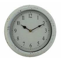 B&f - Reloj De Pared Metal Vintage Blanco Diámetro 28 Cm