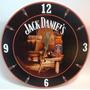 Reloj Decorativo De Pared Jack Daniels Whisky Etiqueta Negra