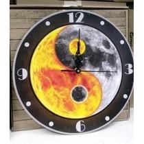 Reloj De Pared Madera Buda Zen Reiki Astrologia Ying Yang 4