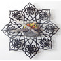Reloj Mandala En Disco De Vinilo Diseño Unico Calado Envio