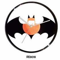 Reloj En Disco De Vinilo Batman