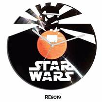 Reloj En Disco De Vinilo Star Wars
