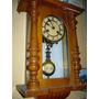Reloj Antiguo A Péndulo Junghans 2 Cuerdas Con Soneria!!!
