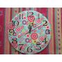 Reloj De Pared ( Falso Cuero, Vintage, Decoupage, Etc)