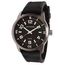 Reloj Carouomo Time P/ Hombre, Silicona, Mod. Cu05-msbw