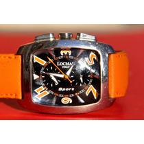 Reloj Locman Crono Titanium Case Negro 100% Original