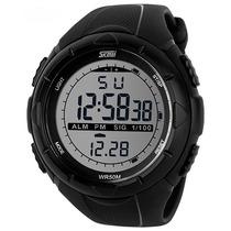 Skmei - Reloj Outdoor Sumergible Alarma Cronógrafo Luz 24 Hs