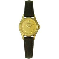 Reloj Seiko Quartz Dama Vestir Original Dorado Malla Cuero