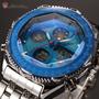 Reloj Water Resist Acero Inox. Alarma Varias Funciones Mira