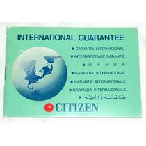 Citizen Watch Co Ltd International Guarantee Garantia 1977