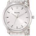Reloj Bulova 96l158 Ladie 100% Acero Seguro Robo Delgado Wr