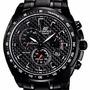 Reloj Casio Edifice Ef-521bk-1av Cronometro Taquimetro