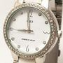 Reloj Knock Out 2386 Combinado Plateado Blanco Dama Mujer