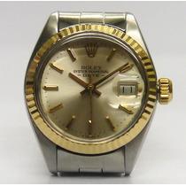 Importante Reloj Dama Rolex 6917 Acero Oro 18k Calendario