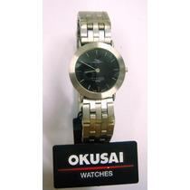 Espectacular Reloj Okusai !! Modelo De Acero - Sumergible