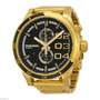 Reloj Diesel Dz4337 Double Down Black Dial Gold Tone Stainle