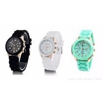 Reloj Geneva De Silicona Colores Belka Por Mayor 10 Unidades