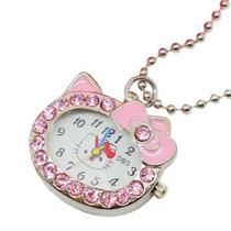 Reloj Hello Kitty Colgante Con Piedras