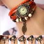 Relojes Pulseras Vintage Cuero X 15 Unidades!mayoristas