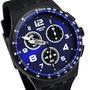 Reloj Swatch Susb402 Nitespeed Silicona Crono Wr